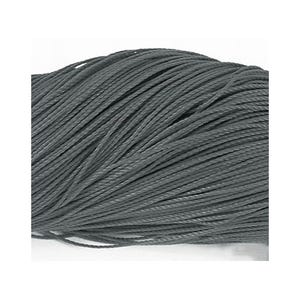 Grey/Black Waxed Polyester String Cord 10M Continuous Length 0.6mm Thick Y06910