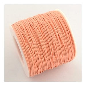 Peach Waxed Cotton String Cord 5M Continuous Length 1mm Thick Y06965