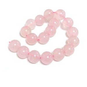 Pink Rose Quartz Grade A Plain Round Beads 10mm Strand Of 15+ Pieces Y07485