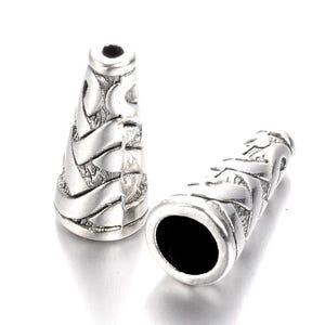 Antique Silver Tibetan Zinc 18mm Cone Bead Caps Pack Of 15 Y07575