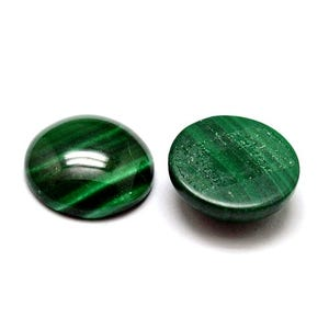 Green Smooth Malachite 12mm Calibrated Coin Cabochon Pack Of 1 Y07630