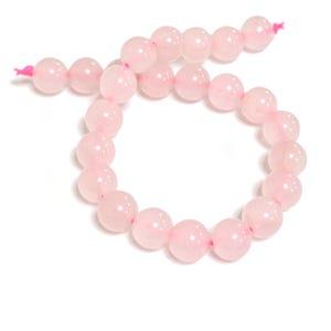 Pink Rose Quartz Grade A Plain Round Beads 8mm Strand Of 20+ Pieces Y07720