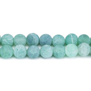 Green Frosted Cracked Agate Grade A Plain Round Beads 4mm Strand Of 90+ Pieces Y07900