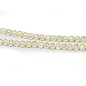 Pale Cream Freshwater Pearl Round Potato Beads 6mm-7mm Strand Of 45+ Pieces Y08080