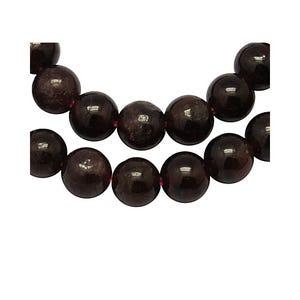 Dark Red Garnet Grade A Plain Round Beads 6mm Strand Of 55+ Pieces Y08810