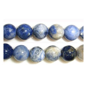 Blue Sodalite Grade A Plain Round Beads 6mm Strand Of 55+ Pieces Y08875