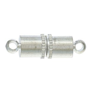 Silver Brass 5mm x 16mm Tube Magnetic Clasp  Y09625