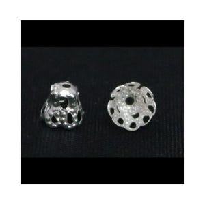 Silver Metal Alloy 5mm x 6mm Filligree Bead Caps Pack Of 110+ Y09785