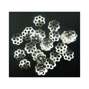 Silver Plated Alloy 6mm Filligree Bead Caps Pack Of 1100+ Y09900
