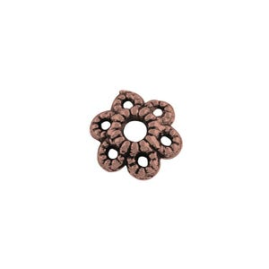 Red Copper Metal Alloy 1.5mm x 6mm Flower Bead Caps Pack Of 200+ Y10460