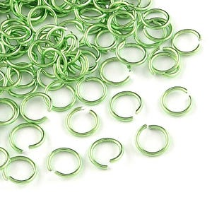 Lime Green Aluminium 0.8mm x 6mm Round Open Jump Rings Pack Of 900+ Y10640
