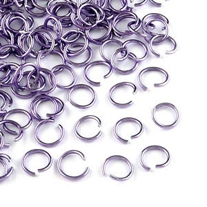 Lilac Aluminium 0.8mm x 6mm Round Open Jump Rings Pack Of 900+ Y11235