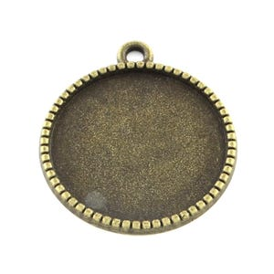 Antique Bronze Metal Alloy 14mm x 18mm Round Cabochon Settings Pack Of 30 Y11395