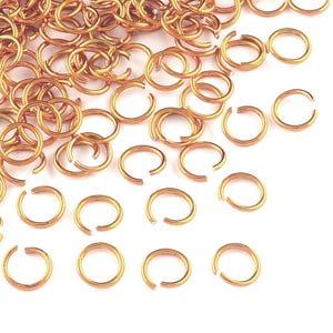 Orange Aluminium 6mm x 0.8mm Round Open Jump Rings Pack Of 900+ Y11410