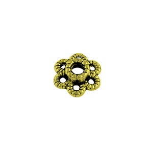 Antique Bronze Metal Alloy 2mm x 7mm Flower Bead Caps Pack Of 100+ Y11555
