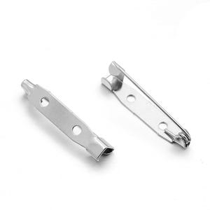 Silver Iron 25mm Rectangle Brooch Backs Pack Of 50+ Y11630