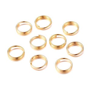 Gold Brass 1.2mm x 7mm Round Split Rings Pack Of 300+ Y11645