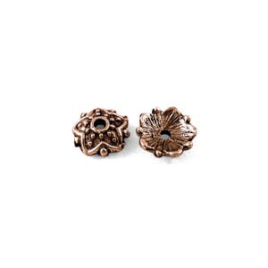 Red Copper Metal Alloy 8mm Star Bead Caps Pack Of 100+ Y11825
