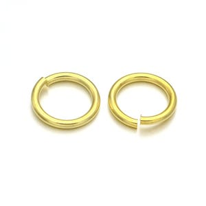 Gold Brass 0.8mm x 6mm Round Open Jump Rings Pack Of 300+ Y11840