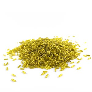 Yellow Glass Bugle Seed Beads 5-9mm x 1.8mm Pack Of 2200+ Y12530