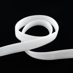 White Velvet Ribbon 2M Continuous Length 16mm Wide Y12800