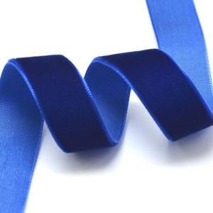 Dark Blue Velvet Ribbon 2M Continuous Length 16mm Wide Y12805