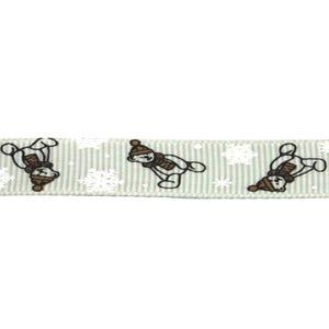 Grey Grosgrain Bear Ribbon 3M Continuous Length 25mm Wide Y12815