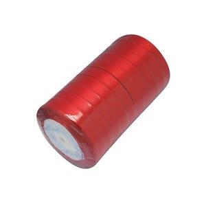 Red Satin Ribbon 22M Spool 12mm Wide Y12895