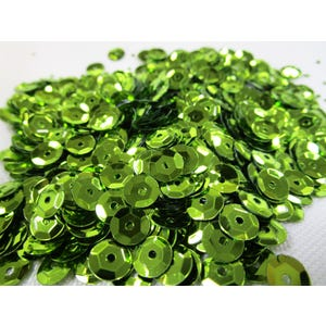 Lime Green Cupped Acrylic Loose Sequins 6-7mm Pack Of 30g Y12900
