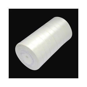 White Satin Ribbon 22M Spool 12mm Wide Y12905