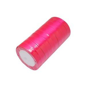 Bright Pink Satin Ribbon 22M Spool 12mm Wide Y12925