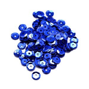 Dark Blue Cupped Acrylic Loose Sequins 6-7mm Pack Of 30g Y12995
