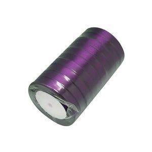 Purple Satin Ribbon 22M Spool 12mm Wide Y13015