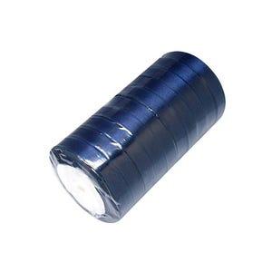 Dark Blue Satin Ribbon 22M Spool 12mm Wide Y13085