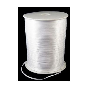 White Satin Ribbon 15M Continuous Length 3mm Wide Y13090