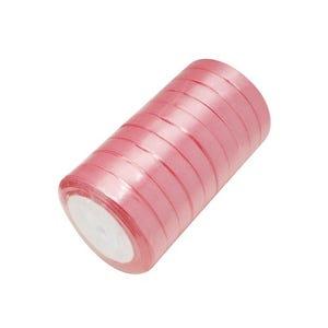 Pink Satin Ribbon 22M Spool 12mm Wide Y13115