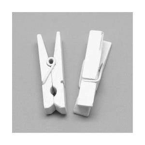 White Spray Painted Mini Wood Craft Pegs 35mm x 10mm Pack Of 30 Y13170