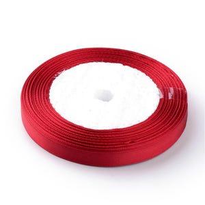Red Satin Ribbon 22M Spool 10mm Wide Y13190