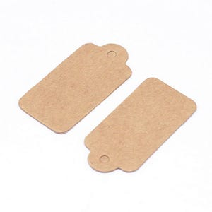 Brown Card Rectangle Gift Tags 30mm x 15mm Pack Of 450+ Y13285
