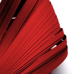 Red Quilling Paper 53cm x 5mm Pack Of 110+ Strips Y13300