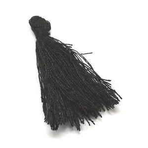 Black Polyester Tassels 3cm Pack Of 10 Y13355