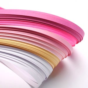 Pink/Yellow Quilling Paper 53cm x 5mm Pack Of 110+ Strips Y13365