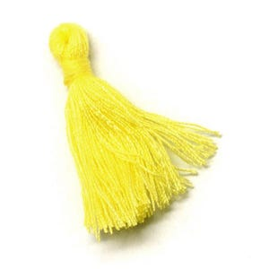 Yellow Polyester Tassels 3cm Pack Of 10 Y13395