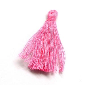 Bright Pink Polyester Tassels 3cm Pack Of 10 Y13470