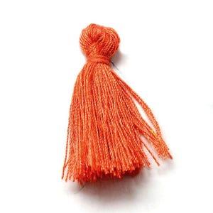 Orange Polyester Tassels 3cm Pack Of 10 Y13490