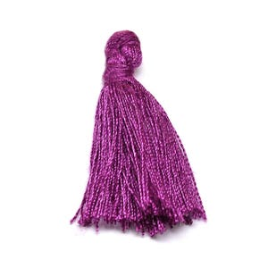 Purple Polyester Tassels 3cm Pack Of 10 Y13525