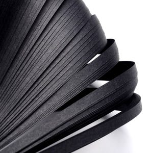 Black Quilling Paper 53cm x 5mm Pack Of 110+ Strips Y13550