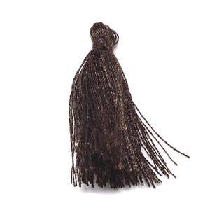 Dark Brown Polyester Tassels 3cm Pack Of 10 Y13580