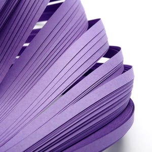 Purple Quilling Paper 53cm x 5mm Pack Of 110+ Strips Y13620