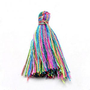 Mixed-Colour Polyester Tassels 3cm Pack Of 10 Y13625